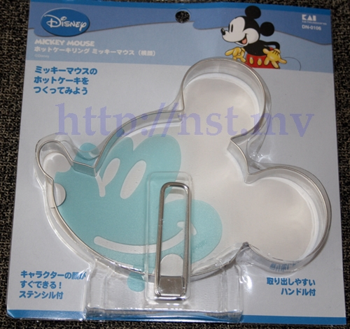 Mickey Side Head Shaped Pancake/egg/burger Mould + Stencil