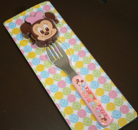 Japan Import Minnie Fork with cover set