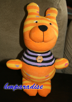 Orange Bear Handmade Sock Dolls