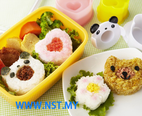 Panda Flower Heart Rice/cookies Mould