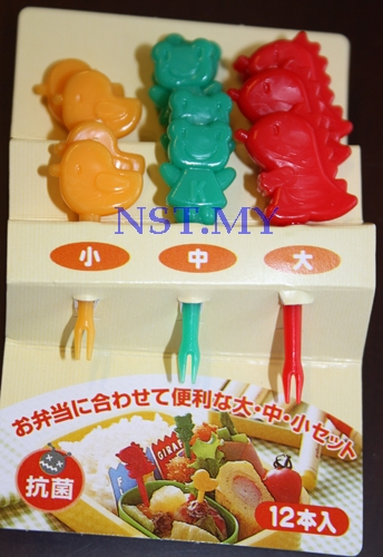 Japan Import Dinasaur+Frog+Bird Heat Resistant Picks