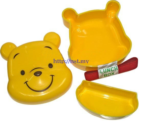 Japan Import Winnie the Pooh Face Lunch Box