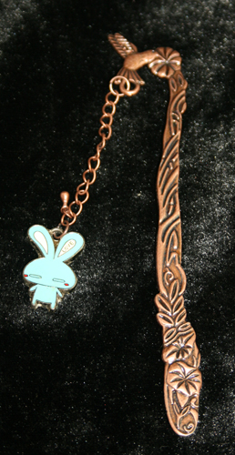 Blue Rabbit 3D Bookmark