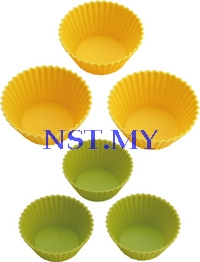 Japan Import Yellow & Green Silicon Mould(6 in a set)