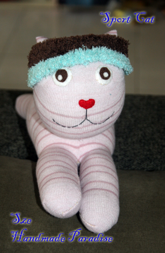 Sport Cat Handmade Sock Dolls