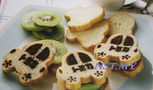 Japan Import Tomica Car Shaped Bread/Toast Mould+Stencil Set